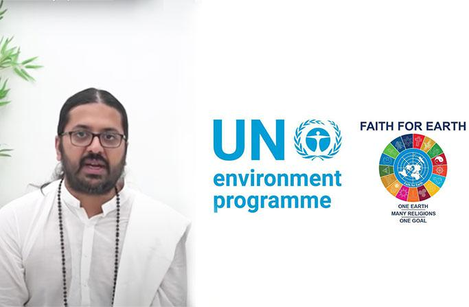 Atmarpit Nemiji speaks at United Nations Environment Programme Online Symposium